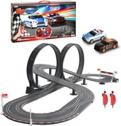 Autodráha dětská 1:43 Top Racer zběsilá honička 6,5m set se 2 auty v krabici