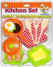 Set kuchyňský dětské nádobí plastové s potravinami vejce na kartě