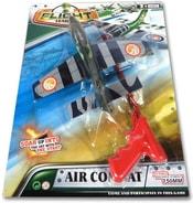 Letadlo vystřelovací plastové Air Combat se startovací pistolí na kartě