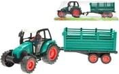 Traktor plastový s vlečkou 33cm na setrvačník s řidičem