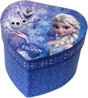 Šperkovnice dětská modrá srdce se zrcátkem Frozen Ledové Království