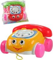 Telefon auto plastové tahací na kolečkách