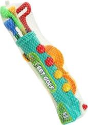 Golf dětský plastový set vozíček s hůlkami, míčky a doplňky