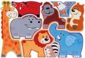 Puzzle PlayGo plastové dětské Safari zvířátka set 9ks v krabičce