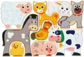 Puzzle PlayGo plastové dětské Farma zvířátka set 9ks v krabičce