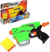 Set pistole dětská plastová 24cm + 4 náboje