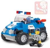Stavebnice POLICIE zásahový vůz set 121 dílků + 1 figurka plast