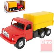 Tatra T148 klasické nákladní auto na písek 30cm červeno-žlutá valník s plachtou