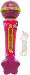 Mikrofon dětský 20cm Máša a medvěd zvukové efekty na baterie