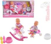 Panenka miminko 12cm 2ks pije a čůrá hrací set s doplňky plast
