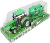 Traktor plastový s přívěsem na setrvačník 30 cm