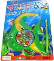 Hra rybičky dětský magnetický rybolov set s udicí na kartě 2 druhy plast