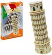 PUZZLE 3D Skládačka slavné stavby Šikmá věž v Pise 8 dílků v krabici