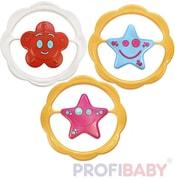 Kruh Hvězdička / Kytička baby chrastítko různé druhy plast