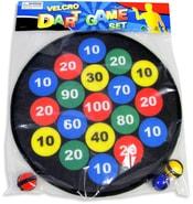 Terč soft látkový na suchý zip set se 3 míčky v sáčku