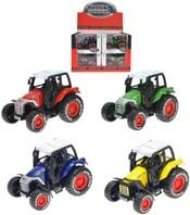 Traktor 8 cm kovový na zpětný nátah