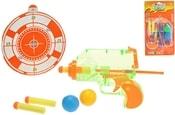 Pistole 15 cm na balónky a šipky s terčem