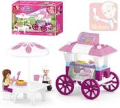 Stavebnice GIRLS občerstvení set 78 dílků + 2 figurky plast