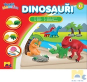 Modelína veselá Dinosauři kreativní set s nástroji