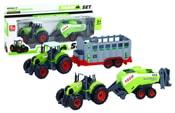 Traktor kovový s vlečkou 2 druhy