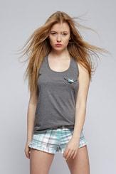 Dámské letní pyžamo Chloe top plus šortky