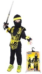 Kostým pro děti NINJA černo-žlutý, vel. S