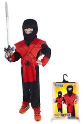 Kostým pro děti NINJA pavouk, vel. M