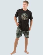 Pánské pyžamo krátké s potiskem 79013P
