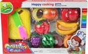 Krájecí ovoce na suchý zip velký set s nožíkem a prkýnkem v krabici plast