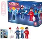 IGRÁČEK TRIO Zachraňujeme set 3 figurky s doplňky v krabičce