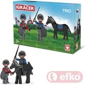 IGRÁČEK TRIO Dva rytíři a černý kůň v krabičce