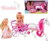 Panenka Evička Evi Love princezna 12cm set 2 panenky s kočárem