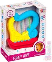 Baby harfa 11cm zábavná zvířecí zvuky + melodie pro miminko