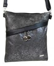 Šedo-černá crossbody taška ve stříbrné patině M185