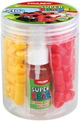 Paulinda Super Beads Jumbo set korálky barevné 210ks s nádobkou spojování vodou