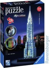 Puzzle 3D Chrysler building Noční edice 216 dílků
