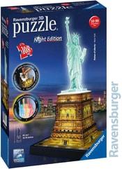 Puzzle 3D Socha svobody Noční edice 108 dílků