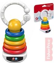 Baby chrastítko plastové kroužky na tyči pro miminko