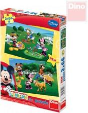 Puzzle 2v1 Disney Mickeyho Klubík: Na farmě 32x22cm 2x66 dílků