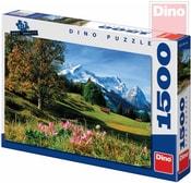 Puzzle 1500 dílků Bavorské Alpy 84x60cm skládačka v krabici