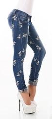 Dámské džíny s výšivkou st-ri444