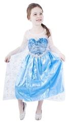 Kostým pro děti princezna zimní s flirty, vel. S