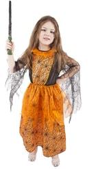Kostým pro děti na karneval oranžový, halloween vel. M
