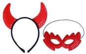 Maska a rohy čerta