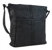 Dámská broušená a prošívaná crossbody kabelka 16024 černá