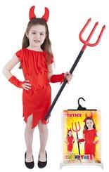 Karnevalový kostým pro děti čertice červená, vel. M