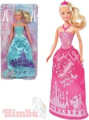 Panenka Steffi Love princezna 29cm třpytivé šaty 2 druhy