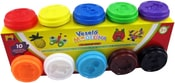 Set 10 modelín á 50g Různé barvy v krabičkách Víčko formička