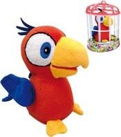 Papoušek Charlie 15cm na baterie opakuje slova