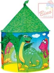 Stan dětský Dinosauří hrad zelený kulatý s bočním okýnkem